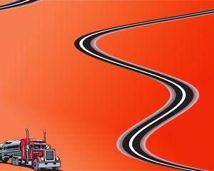 Diseño de Plantilla PowerPoint gratis para temas relacionados con presentaciones de transporte, vehículos pesados o vehículos de carga así como también para traslado de materiales o bien para tecnología de transporte y logística