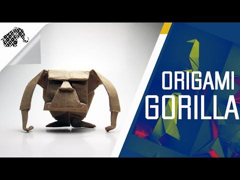Origami - How To Make An Origami Gorilla - YouTube