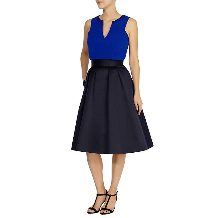 Buy Coast Meslita Skirt, Navy Online at johnlewis.com