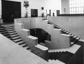 Stair, Hotel de Ville (Town Hall),  Boulogne-Billancourt, Hauts-de-Seine, France / Architects: Debat-Ponsan, Edouard Bernardand Garnier, Tony/  1931-1934