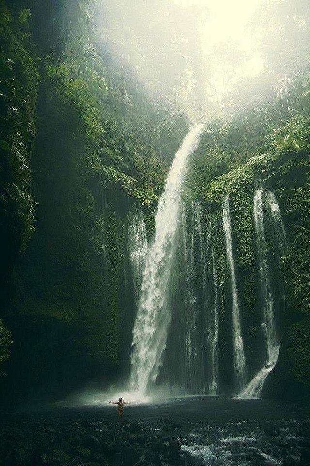 shower under a waterfall :)