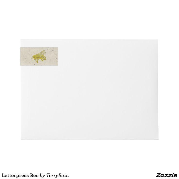 Letterpress Bee Wrap Around Label