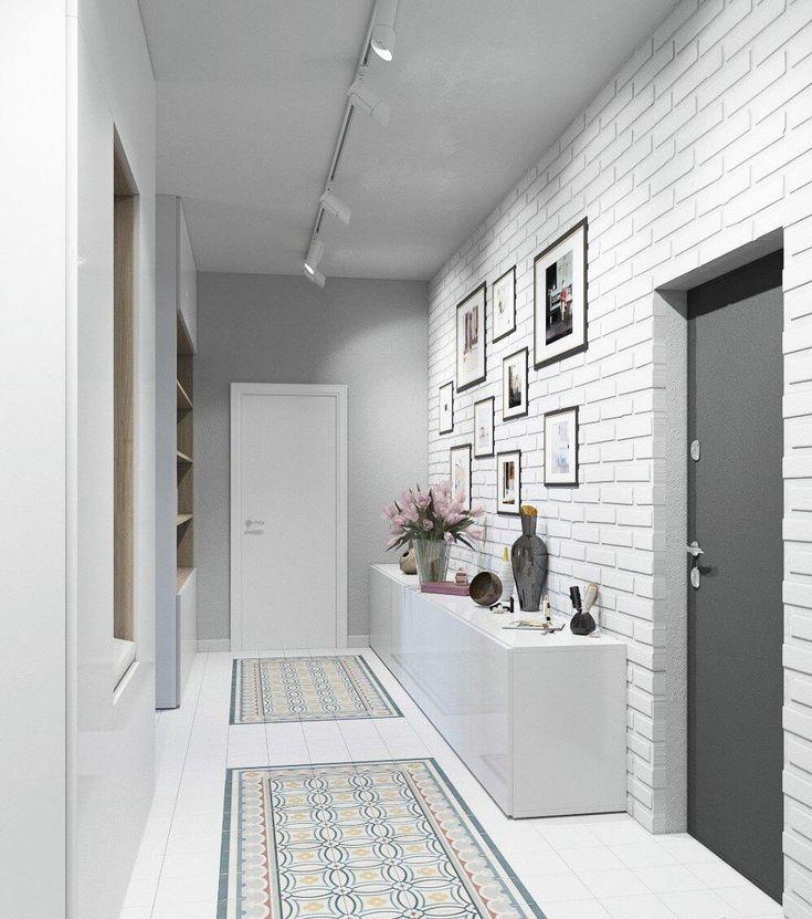 белый кирпичик на стене в холле фото разнообразить рацион простой