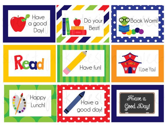 Boy Lunch Box Notes- Printable Lunch Box notes on Etsy, $4.50