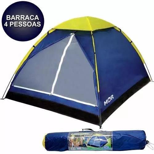 Barraca Camping Tenda Iglu 4 Pessoas Mor Acampamento Praia - R$ 99,99