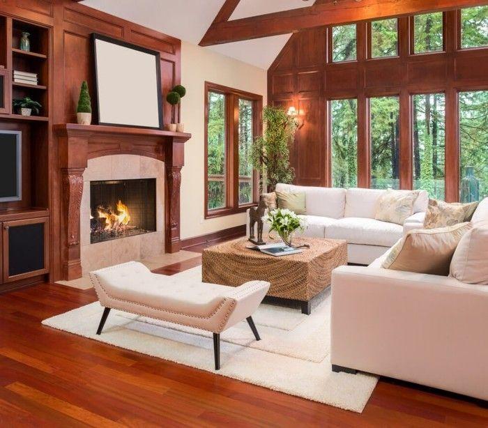 wohnideen wohnzimmer weiße möbel kamin kleriner raum   deco   Pinterest