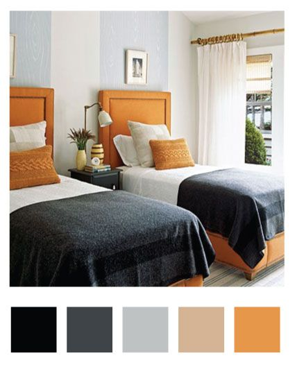 Atrractive Interior Focusing On Orange And Grey Bedroom Types | HGTV Decor