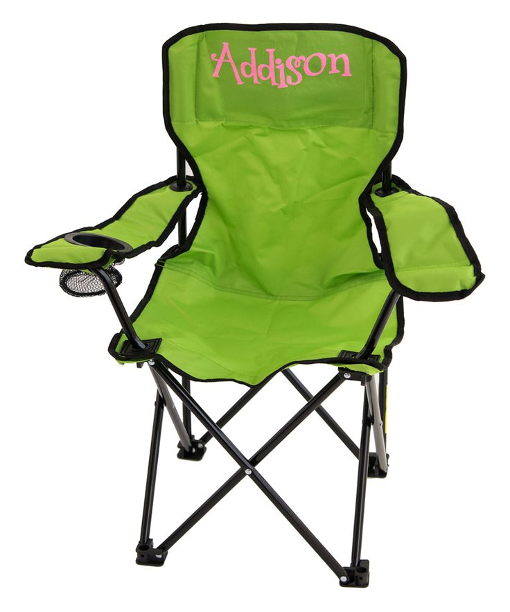 Lime Green & Pink Personalized Kids' Folding Chair