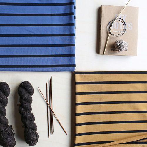 Stripe College, Blue - Black | NOSH Women Autumn 2016 Fabric Collection is now available at en.nosh.fi | NOSH Women syysmalliston 2016 uutuuskankaat saatavilla verkosta nosh.fi