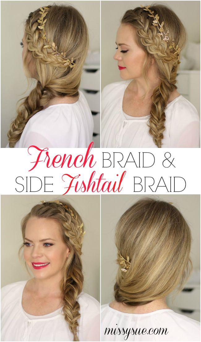 French Braid and Side Fishtail Braid