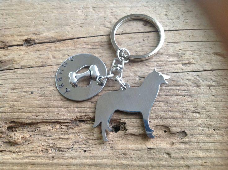 One Siberian Husky Custom Keychain Dog Lover by tagsoup on Etsy, $18.00