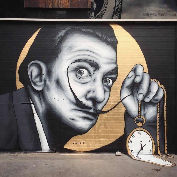 #salvadordali by @zabouartist in London