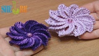 crochet flowers for beginners - YouTube