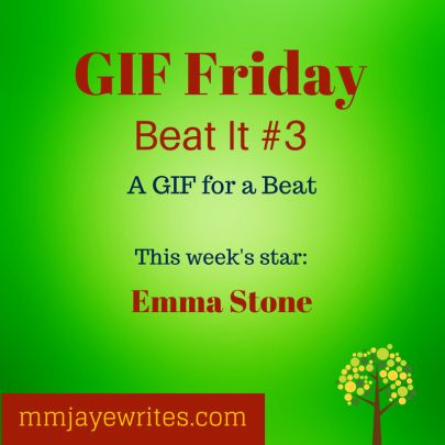 Emma Sone stars in this week's GIF Friday. Read the flash fiction story, check out her reaction and write the body language beat.