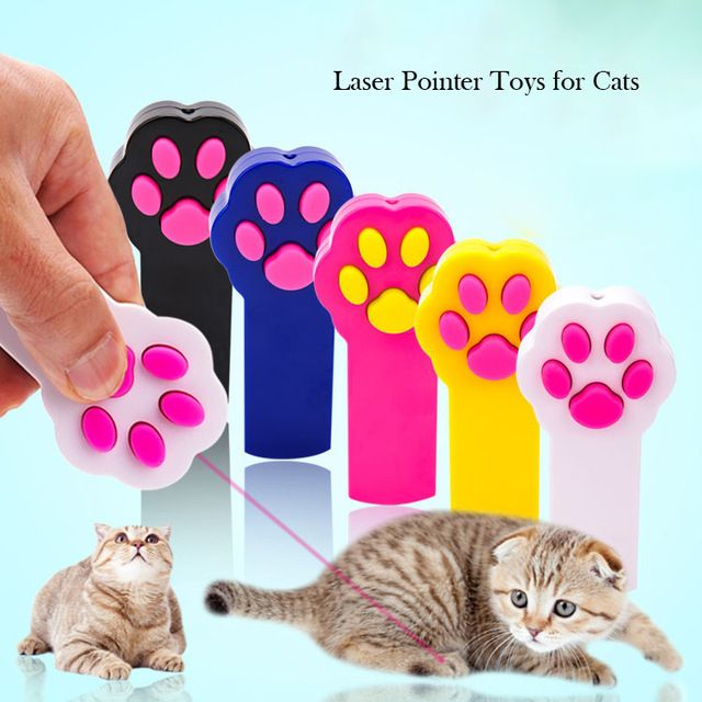 New Arrival Creative Funny Pet Cat Toys Paw Style LED Laser Pointer Pen Interactive Game