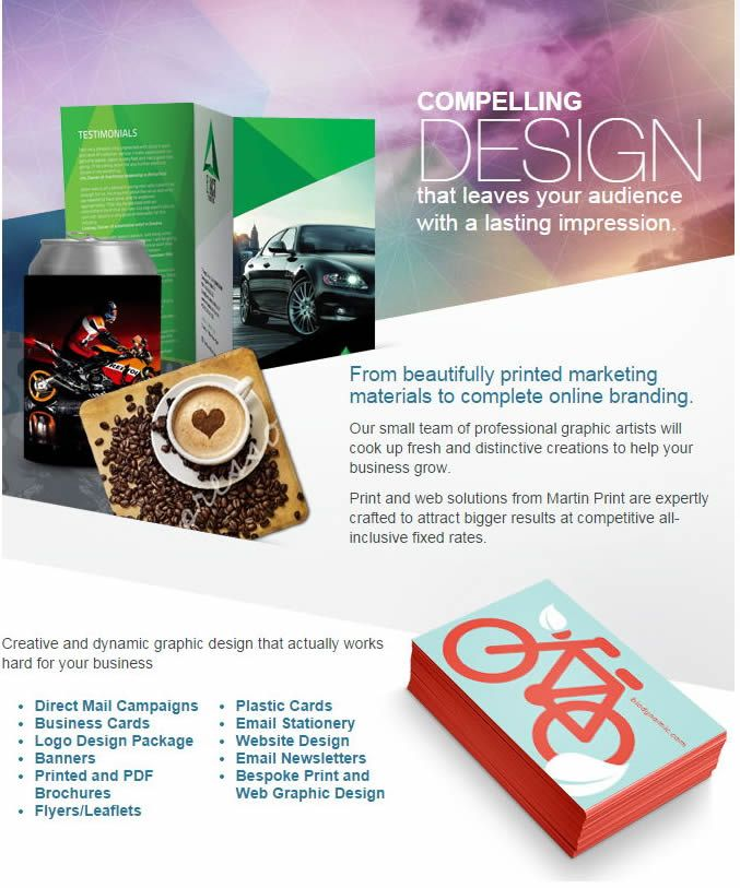Click the link to discover how Martin Print can deliver your Graphic Design solutions engineered to demand attention from your audience.