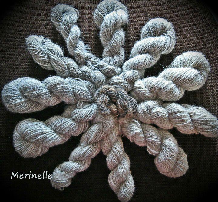 Handspun chiengora/wool yarn. #handspun #chiengora