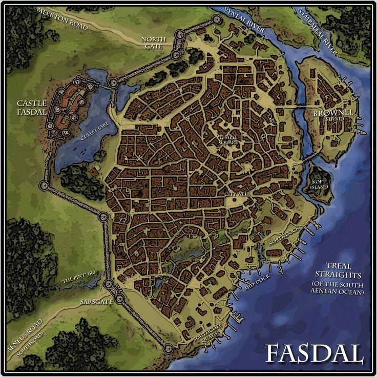 A city map for Du0026D or Pathfinder