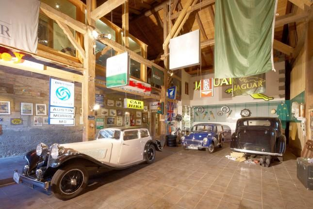 Old Timer Garage, Bavaria - note the feet sticking out from under the auto!!
