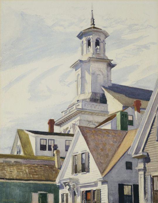 Edward Hopper, American (1882–1967), Methodist Church Tower, 1930, watercolor