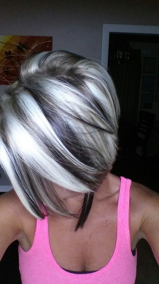 100 dark hair with heavy platinum highlights perfect when you're going grey page (35