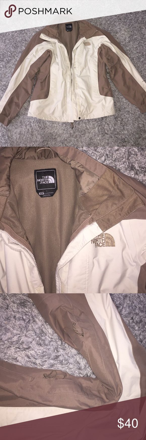 North face jacket Brown and white north face jacket North Face Jackets & Coats