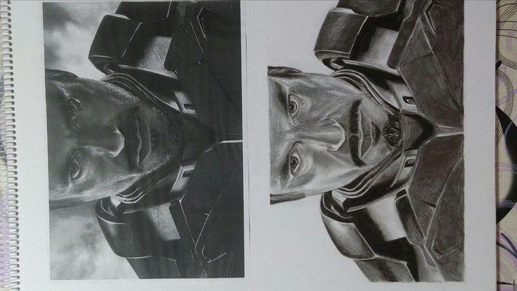 Dibujo realista fan art #ironman #marvel #DFFL