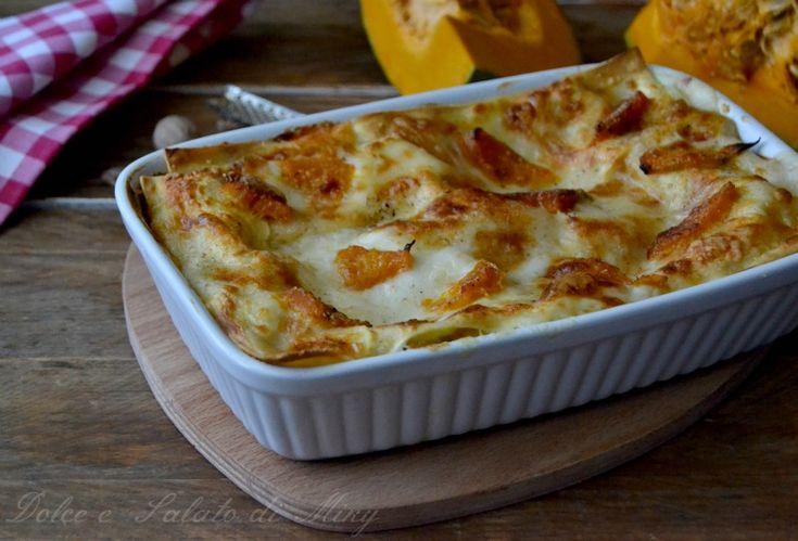Lasagne con zucca e gorgonzola, cremosissime e molto gustose, semplici da preparare.