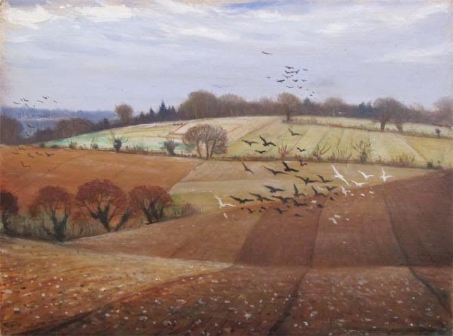 Nevinson: Near Leatherhead, 1939