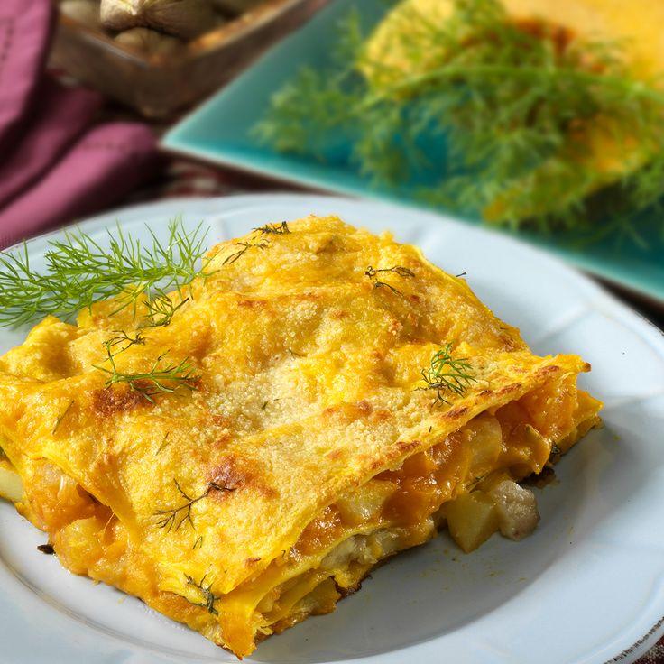 Lasagne di zucca e salsiccia, la ricetta originale  #LeIdeediAIA #AIA #lasagne #zucca  #cucina #cucinare #food #foodie #eat #eating #halloween #party #festa #cucinaitaliana #italianfood