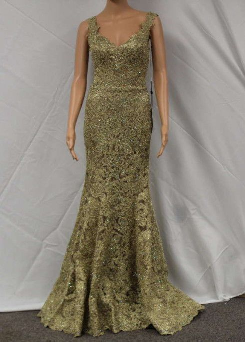 18dfd261be3 Sherri Hill Women s Size 0 Embellished Fitted Lace Prom Gown In Gold 51571  (eBay Link)