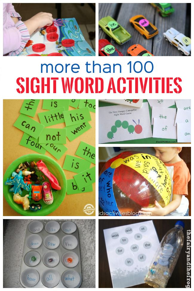 Lots of neat ideas to use during Kindergarten PE! Needs a little adapting! Definitely inspirational! Check it out! Can't wait to try these out! 100+ Sight Word Activities