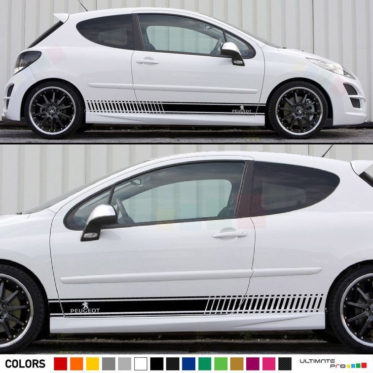 Decal Sticker Stripe Kit For Peugeot 207 Rc Cc Body Flare Spoiler Bumper Racing Ultimate1pro プジョー