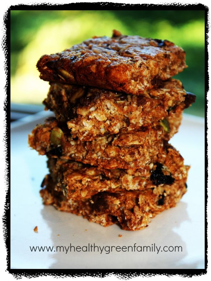 School Snacks!  Healthy, Chewy, Granola Bars.