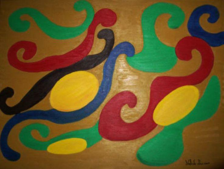 COLECÇÃO DE ABSTRACTOS   Pintado por Adelaide Moça  Óleo sobre tela   Tamanho 60*80