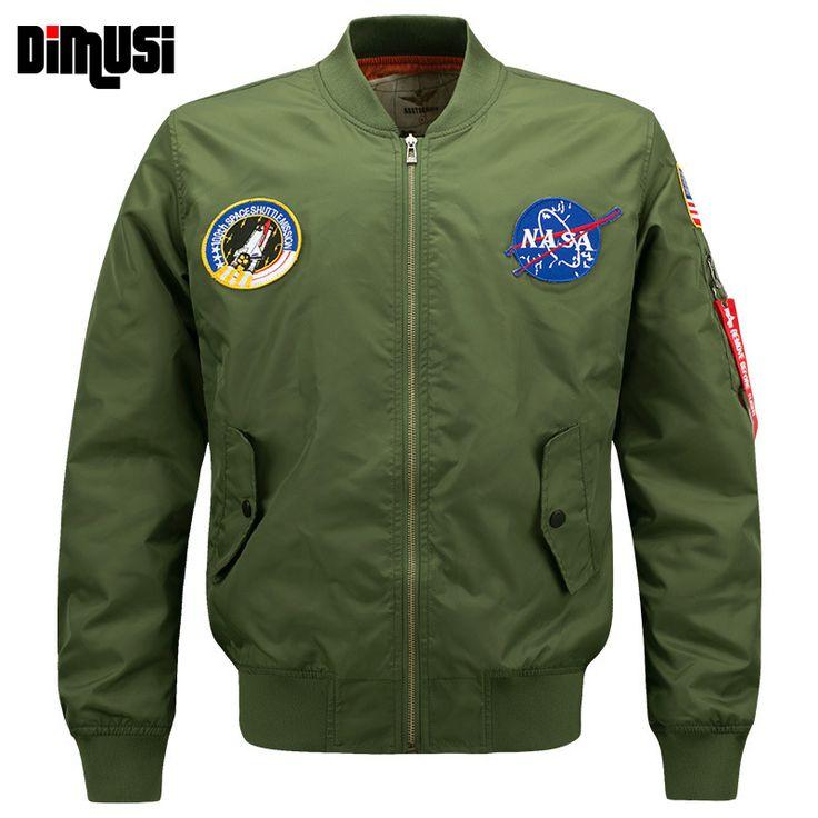 6XL NASA Bomber Jacket Men 2016 Ma-1 Flight Jacket Pilot Air Force Male Ma1 Army Green Military motorcycle Jackets Coats,YA545