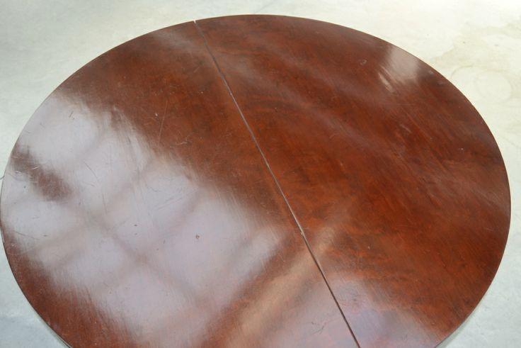 cool Tavolo rotondo '800 allungabile stile Impero lastronato in mogano DSC_0005 (FILEminimizer)