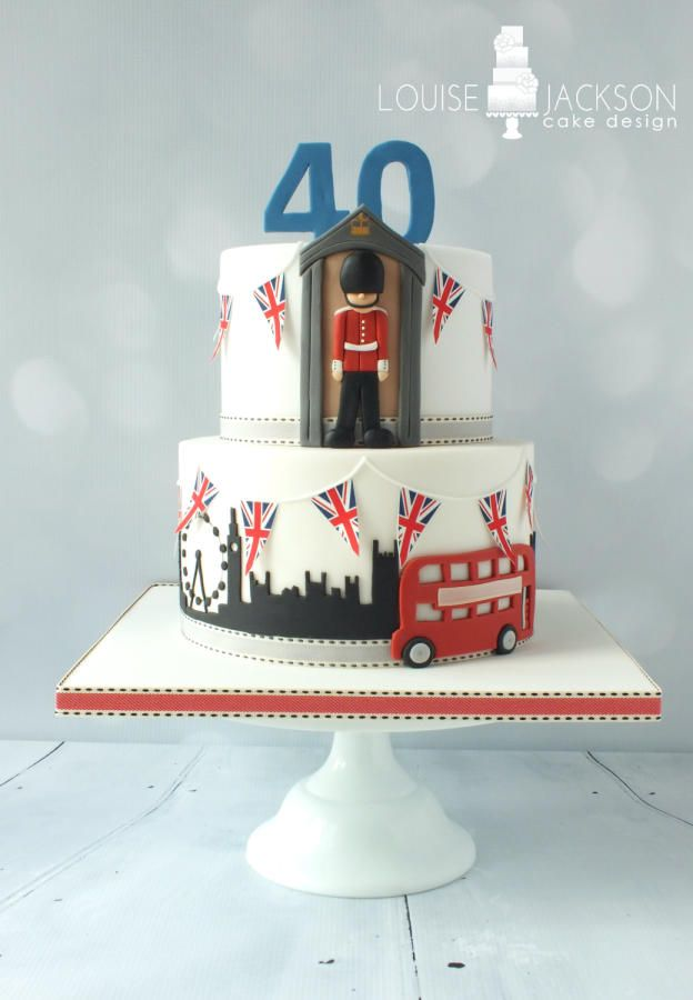 London themed cake - Cake by Louise Jackson Cake Design