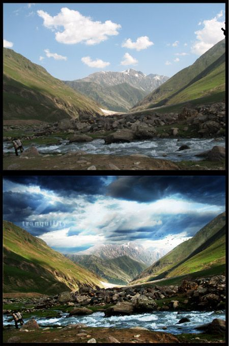 #landscape photo editing in #photoshop