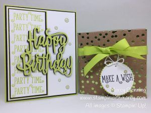 Happy Birthday Gorgeous Bundle, Foil Frenzy DSP, Stampin' Up! www.stampinwithmarcy.com Creating Kindness Design Team Blog & Video Hop