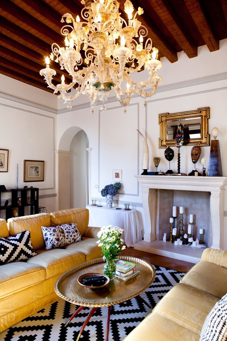 The Chandelier In The Living Room Is Made Of Murano Glass, A Famous  Venetian Glass