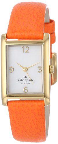 Kate Spade Watches Women's 1YRU0189 Valencia Orange Cooper Strap Watch