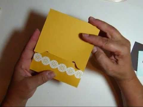 Envelope Punch Board Gift Card Holder - YouTube