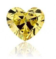 4.27 CT Vivid canary Yellow Diamond Heart Shape VVS2 Clarity GIA.