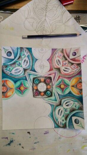 Balance colored pencil LMS art