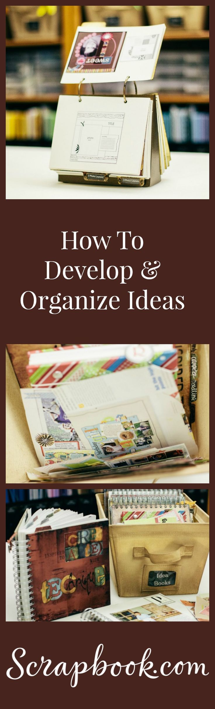 Learn how to develop and organize your creative ideas.