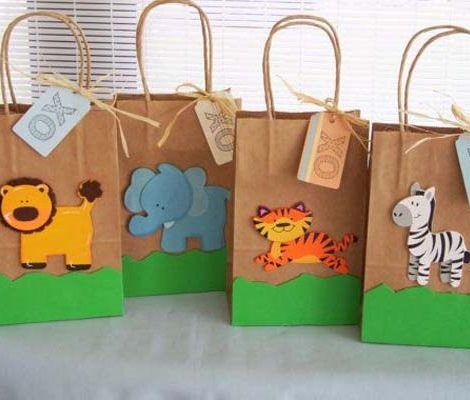 Resultado de imagen para como hacer bolsas de papel kraft para cumpleaños