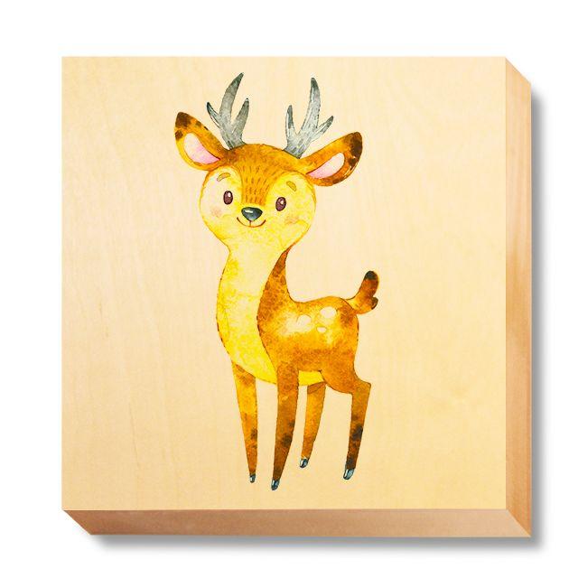 CHI 049 Children's Art - Watercolour Deer