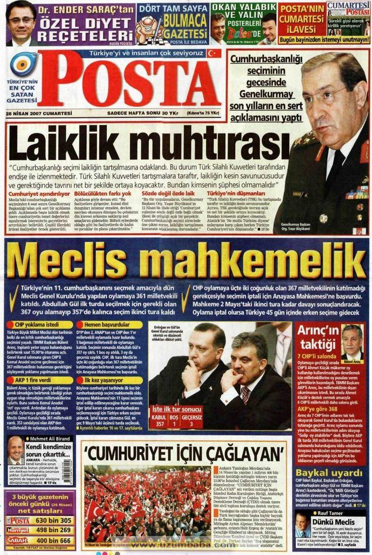 Posta gazetesi 28 nisan 2007