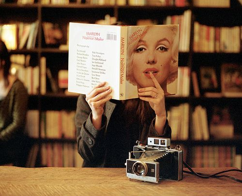 book, camera, cool, girl, juh was here, library